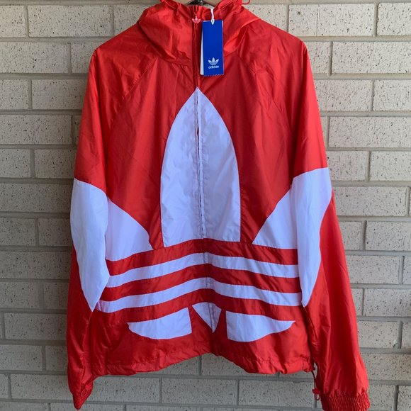 Adidas Big Trefoil Windbreaker Full Zip Jacket